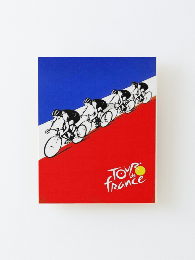 Alternate view of  TOUR DE FRANCE; Abstract Bicycle Race Advertisement Print Mounted Print