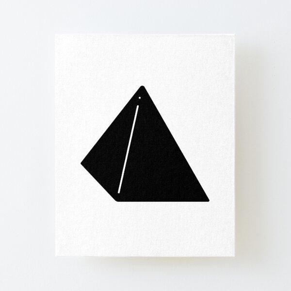 Shapes Pyramid - Minimalistic Vector Art Canvas Mounted Print