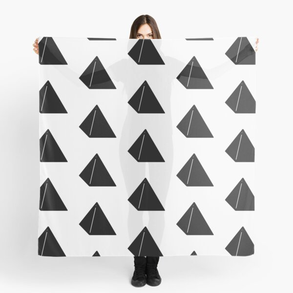 Shapes Pyramid - Minimalistic Vector Art Scarf