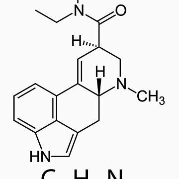 LSD Chemical Structure by Mhayes1048