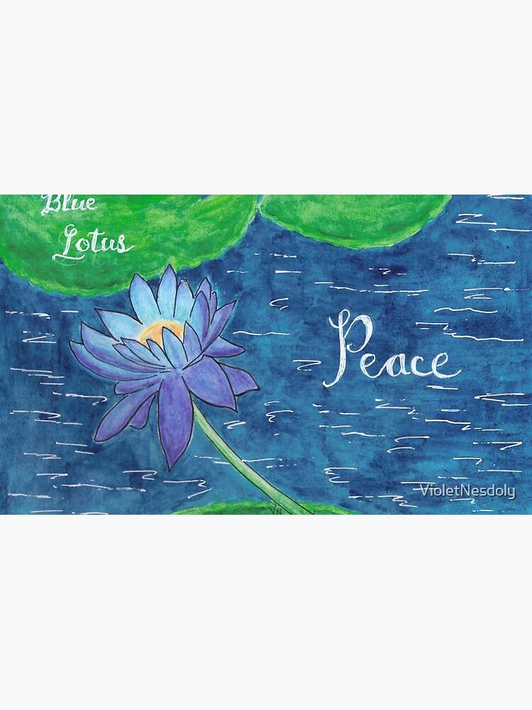 Blue Lotus - Peace by VioletNesdoly