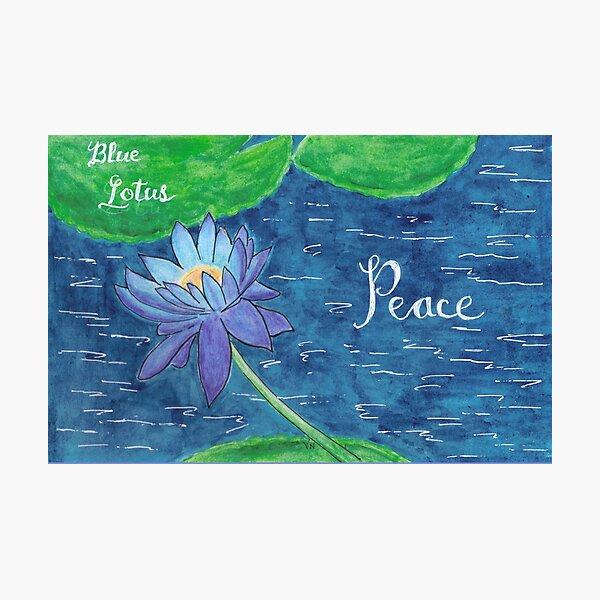 Blue Lotus - Peace Photographic Print