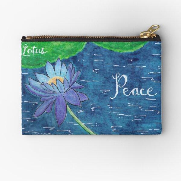 Blue Lotus - Peace Zipper Pouch