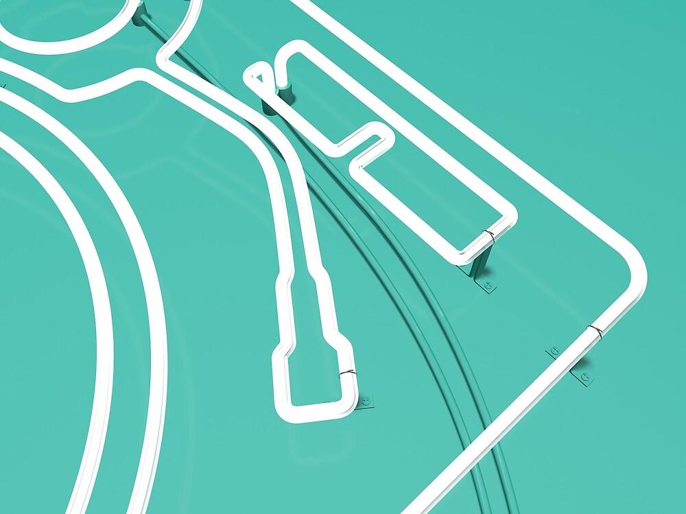 Neon Turntable 3 - 3D Art by Rickard Arvius