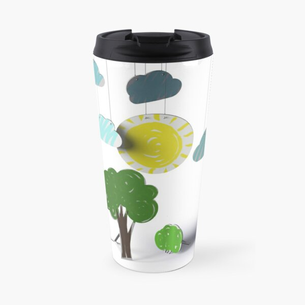 Sunny Day 3D Paper Craft Travel Mug