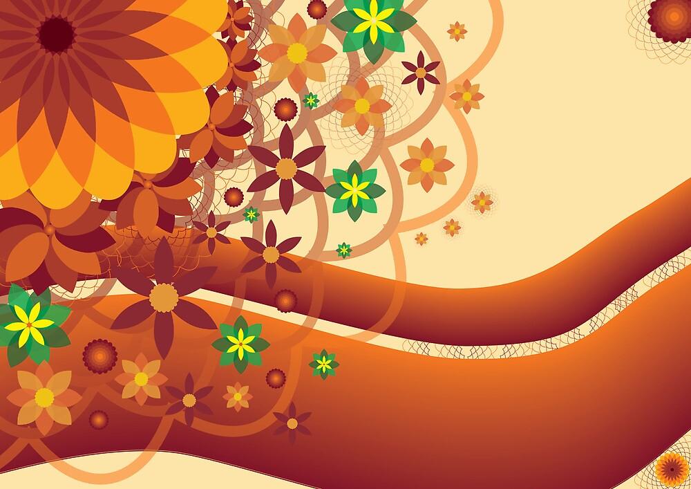Floral burst in Orange by pnjmcc