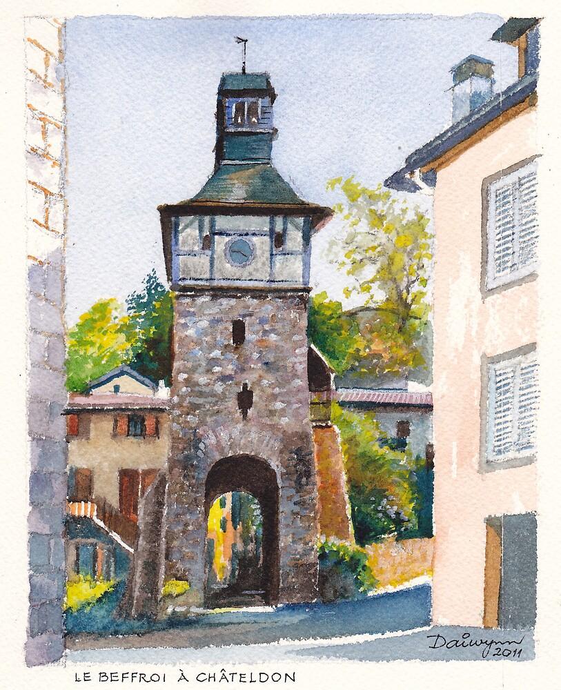 Châteldon Beffroi (Clocktower) by Dai Wynn