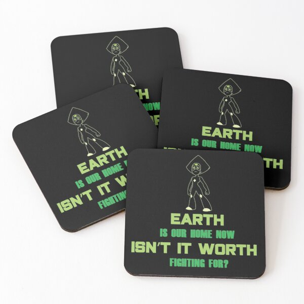 Steven Universe Peridot Quote Coasters (Set of 4)