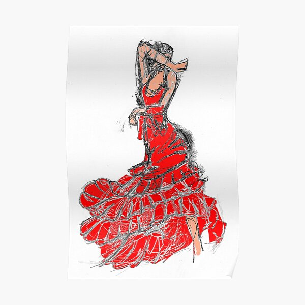 danseuse de flamenco  Poster