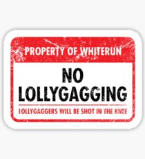 Whiterun Municipal Ordinance Sticker
