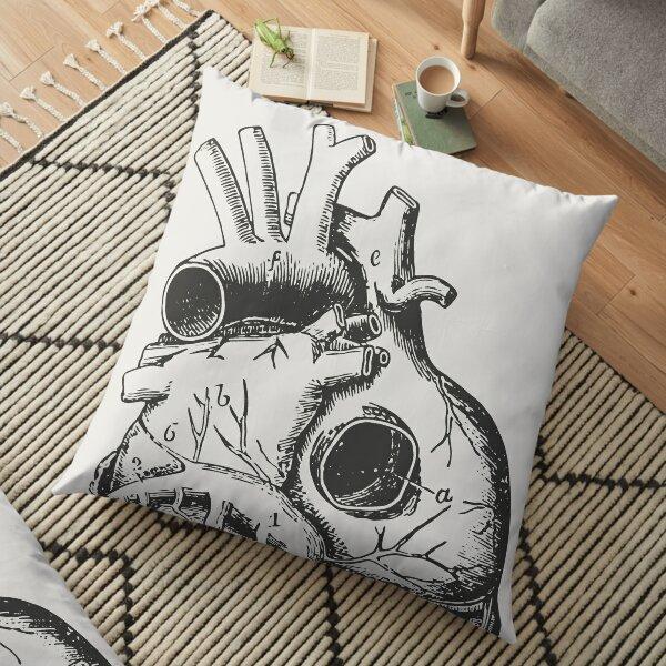 Anatomical Heart • Large Print • Goth Art Floor Pillow