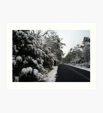 Ben Lomond Snow Art Print