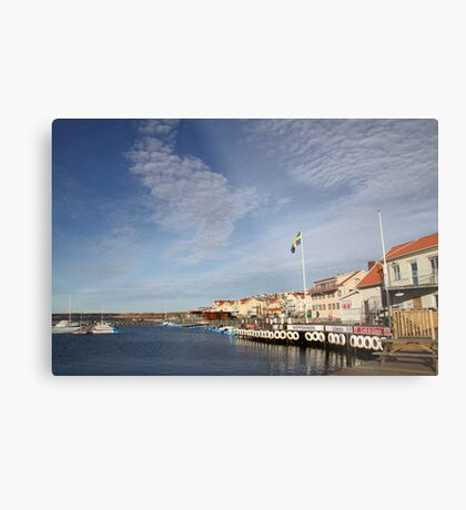 Lysekil harbour, West Sweden Metal Print