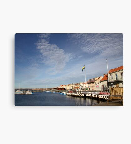 Lysekil harbour, West Sweden Canvas Print