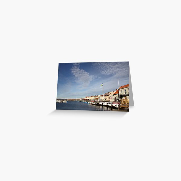Lysekil harbour, West Sweden Greeting Card