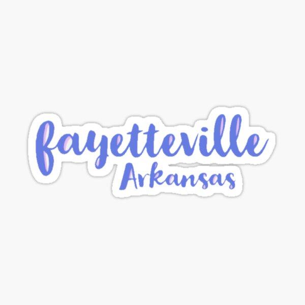 Fayetteville Arkansas Sticker