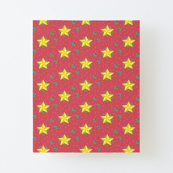 Christmas star Canvas Mounted Print