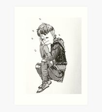 Sleepy Punk Art Print