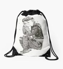 Sleepy Punk Drawstring Bag