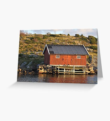 South Koster boathouse Greeting Card