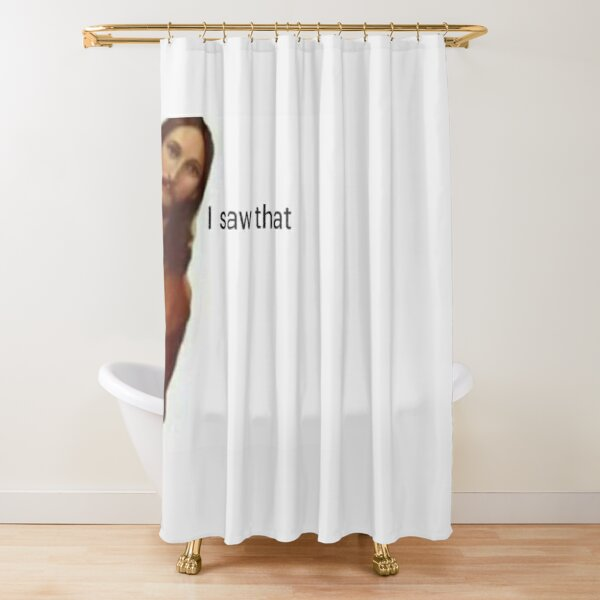 jesus saw that Shower Curtain