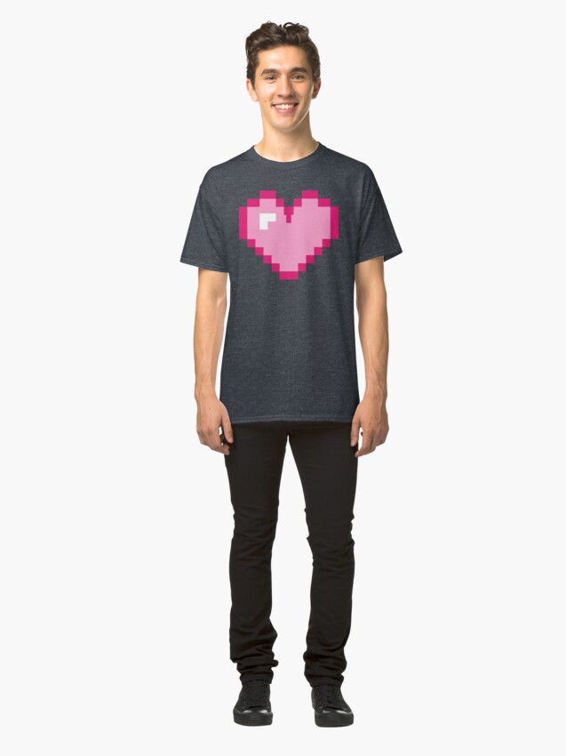 Alternate view of 8bit Heart Classic T-Shirt