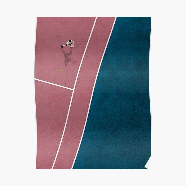 Tennis Player   Aerial Illustration  Poster