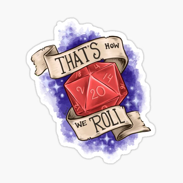 That's how we roll - Red d20 Sticker