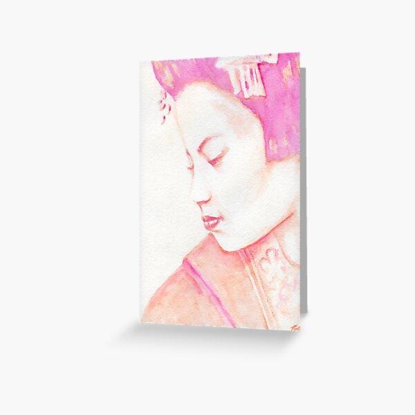 Red Geisha Greeting Card