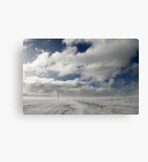 Winter highway Canvas Print