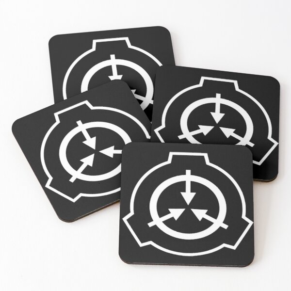 SCP Symbol (Black) Coasters (Set of 4)
