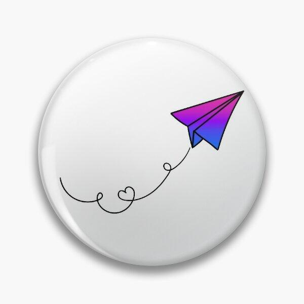 Bi Pride Flag Airplane Pin