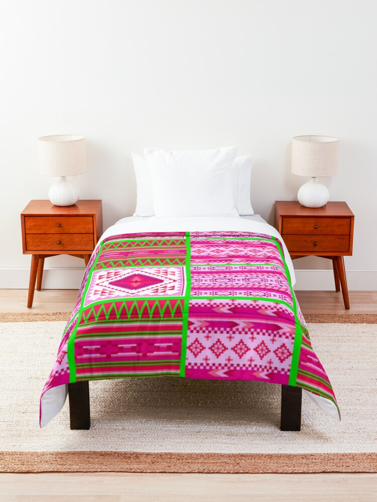Alternate view of Contemporary South Western Tribal Print Comforter