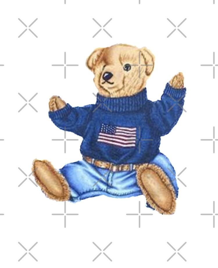 Vintage Polo Bear Teddy Bear Ralph Style Design 90 S Cute