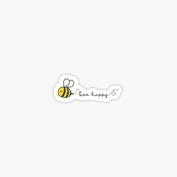 Mini Bee Happy Sticker