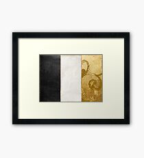 Fashion Gold and Black Flag France Framed Print