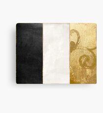 Fashion Gold and Black Flag France Metal Print