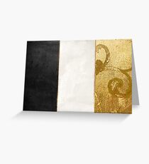 Fashion Gold and Black Flag France Greeting Card