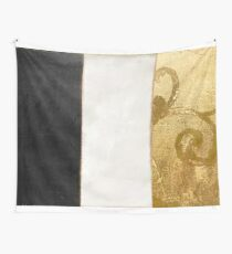 Fashion Gold and Black Flag France Wall Tapestry