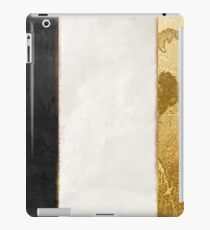 Fashion Gold and Black Flag France iPad Case/Skin