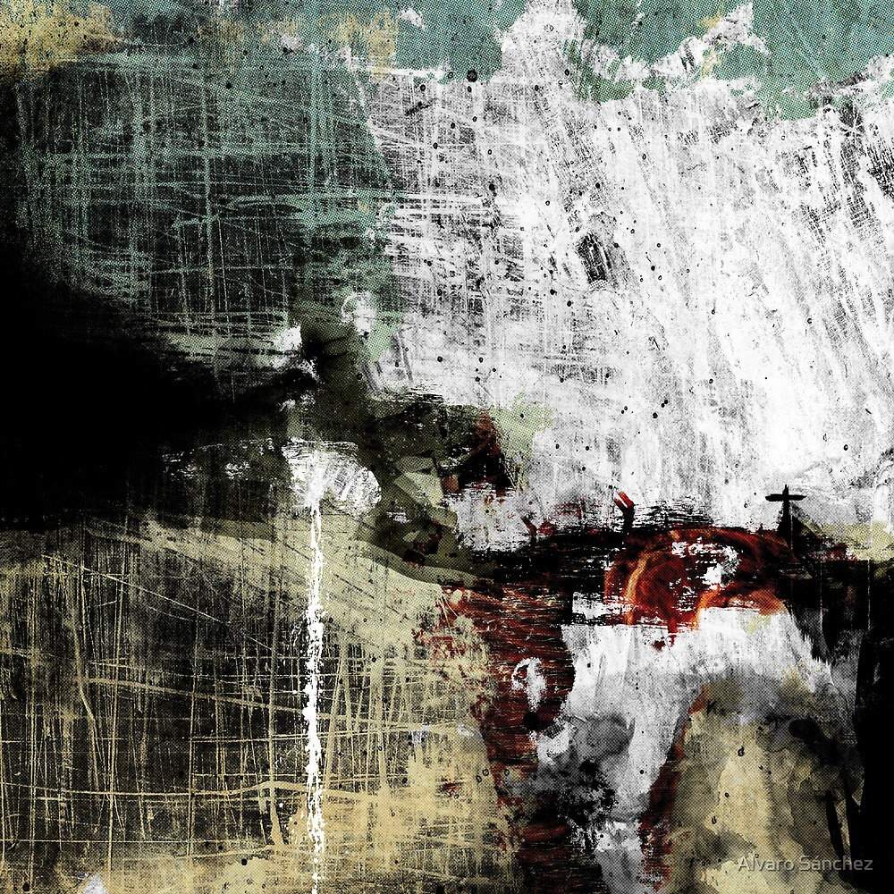 ANGEL COVERED BY THE MANKIND´S GRIME AND EXPLODING ON THE CONCRETE FLOOR WITH FAREWELL TEARS by Alvaro Sánchez