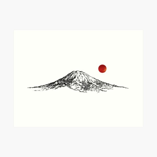 Mount Yotei Art Print