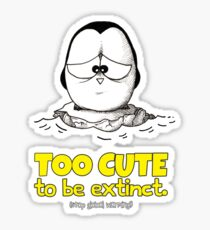 Too Cute To Be Extinct v.1 Sticker