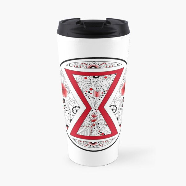 Black Widow Mandala Travel Mug