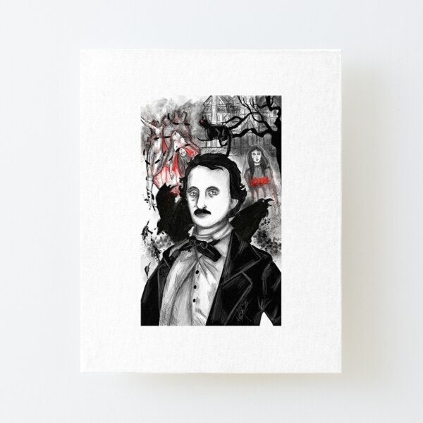 Edgar Allan Poe Canvas Mounted Print