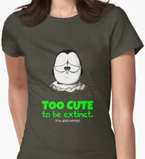 Too Cute To Be Extinct v.2 Womens Fitted T-Shirt