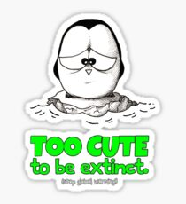 Too Cute To Be Extinct v.2 Sticker