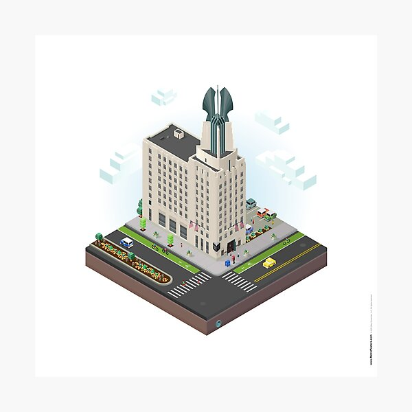 City Blocks: Times Square Building (Rochester, NY)  Photographic Print