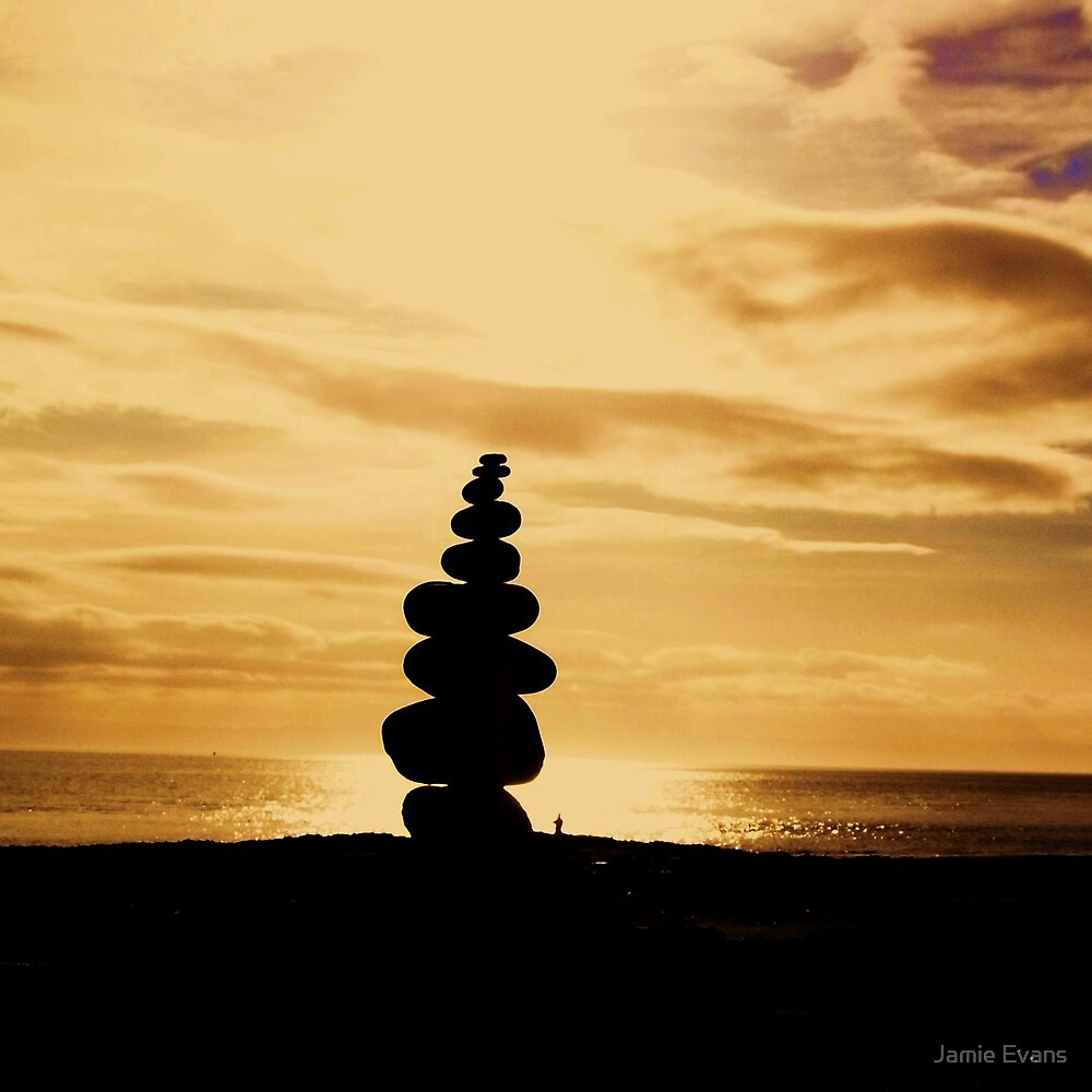 Stacked Stones, Sand & Sun by Jamie Evans