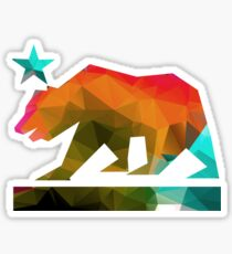 California State Flag Bear (Fraktale Winkel) Sticker